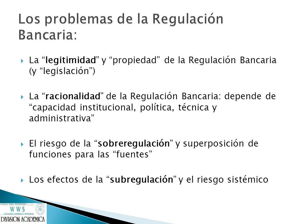 Los problemas de la Regulación Bancaria: