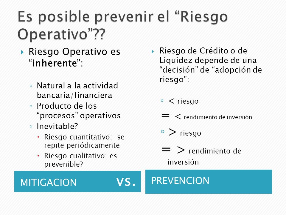 Es posible prevenir el Riesgo Operativo