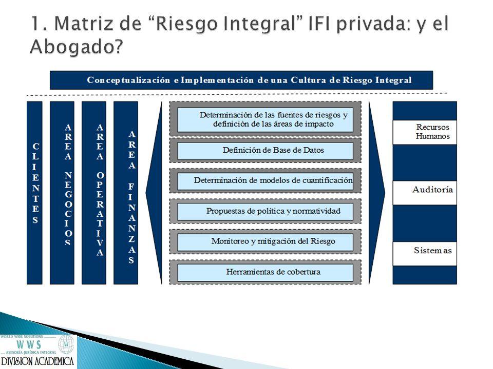 1. Matriz de Riesgo Integral IFI privada: y el Abogado