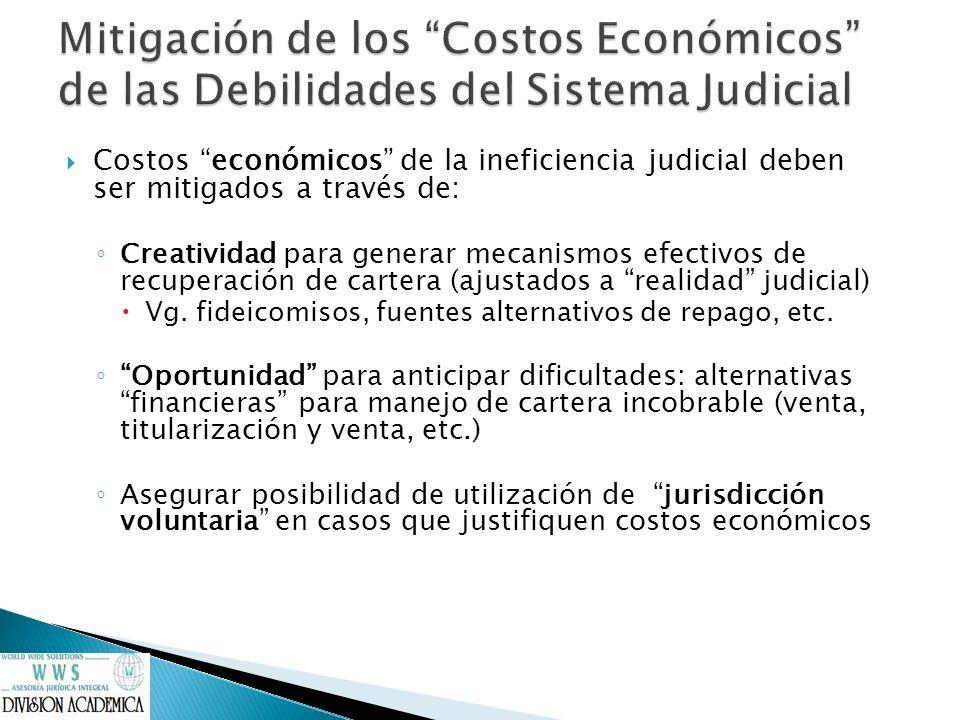 Mitigación de los Costos Económicos de las Debilidades del Sistema Judicial