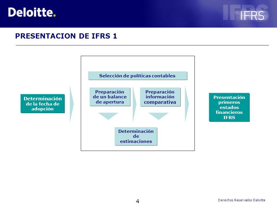 Plan de Convergencia de los Principios Contables Chilenos a las Normas Internacionales de Información Financiera