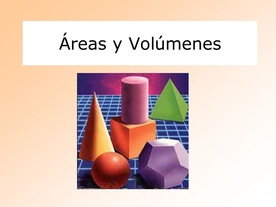 Áreas y Volúmenes