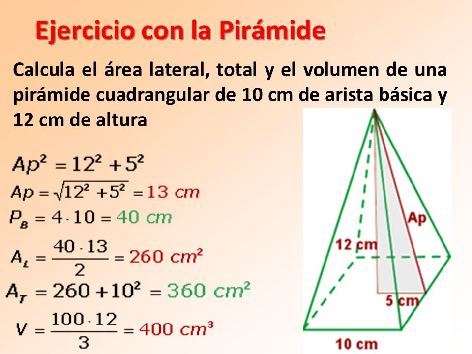 Ejercicio con la Pirámide