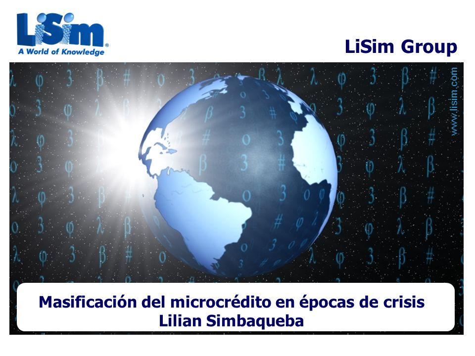 Masificación del microcrédito en épocas de crisis Lilian Simbaqueba