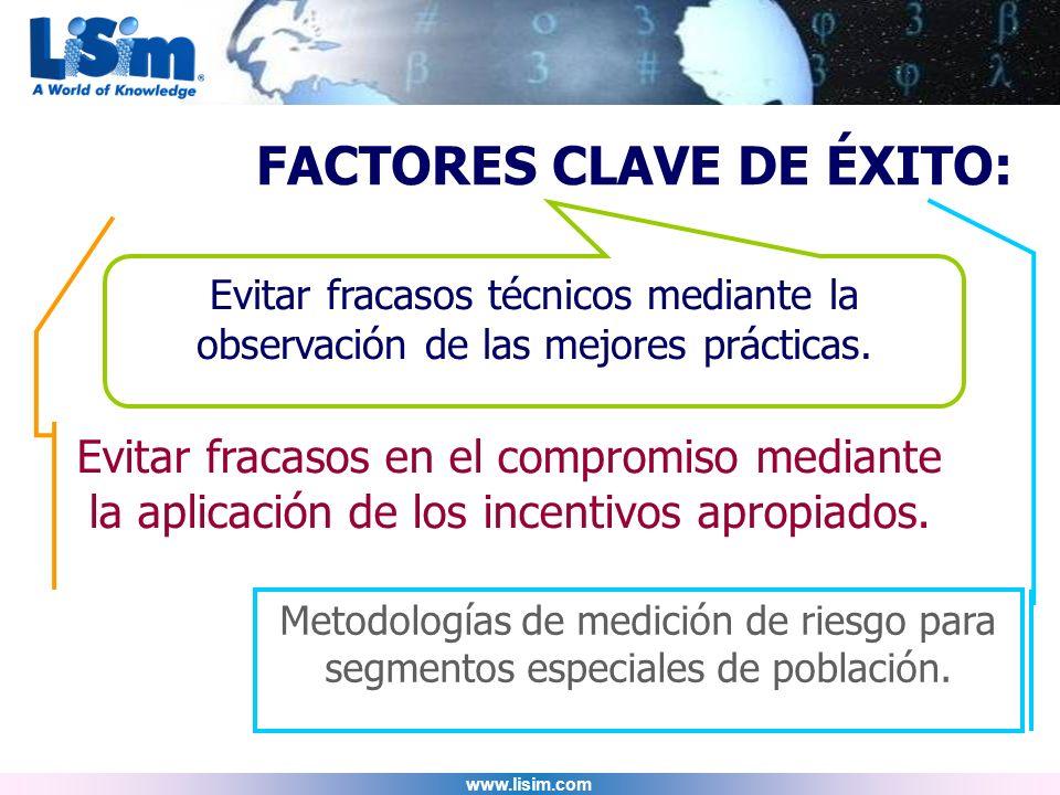 FACTORES CLAVE DE ÉXITO: