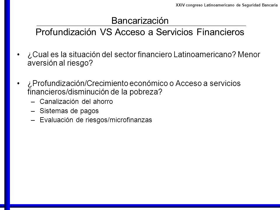 Bancarización Profundización VS Acceso a Servicios Financieros