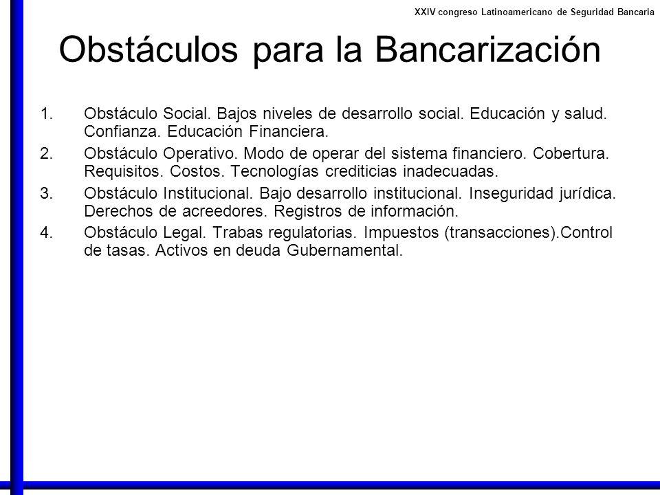 Obstáculos para la Bancarización