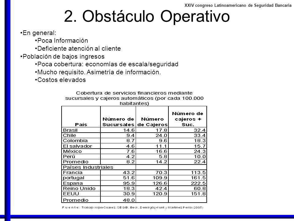 2. Obstáculo Operativo En general: Poca Información