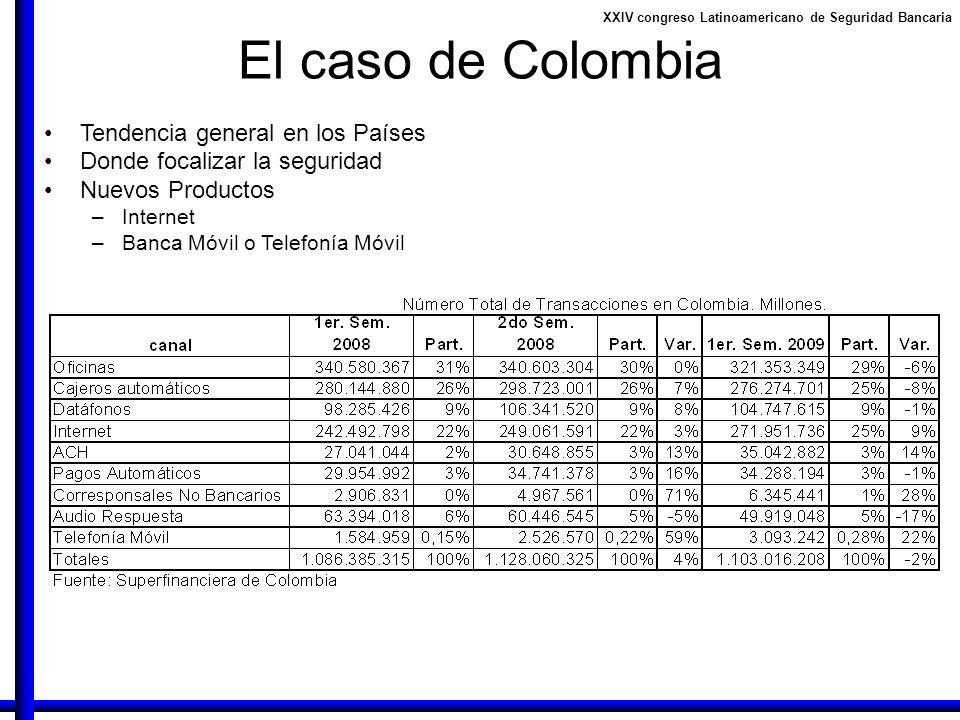 El caso de Colombia Tendencia general en los Países
