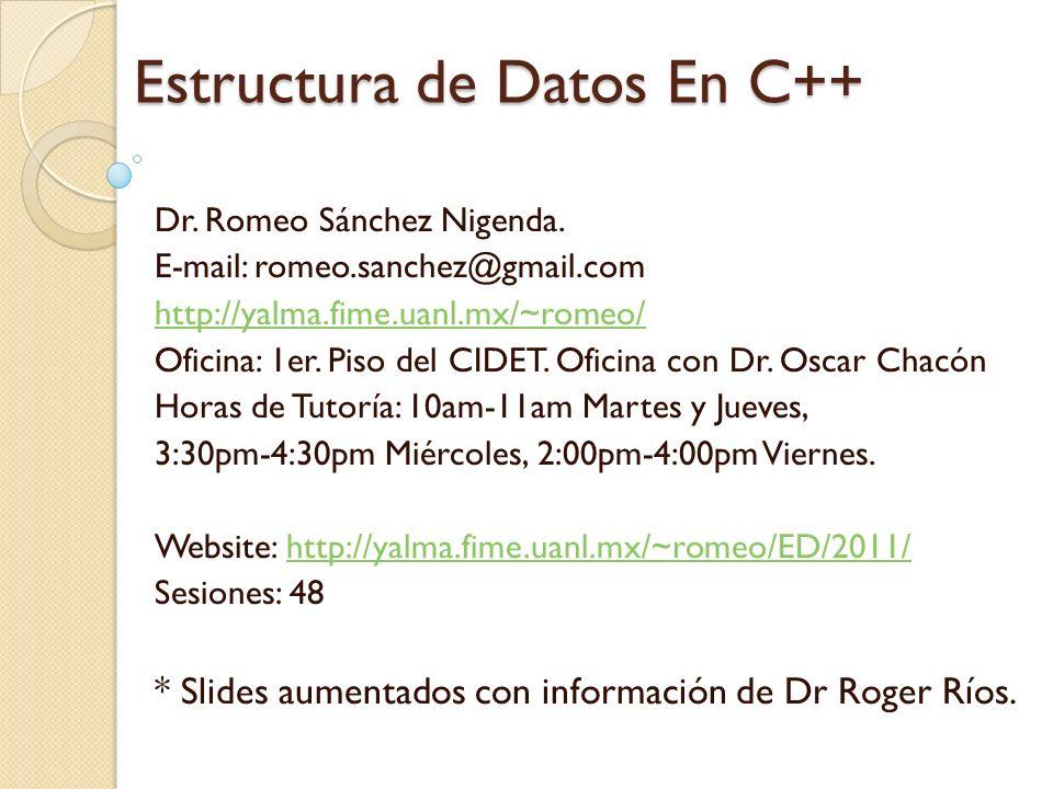 Estructura De Datos En C