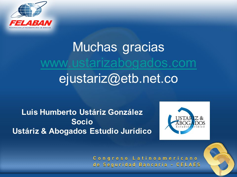 Muchas gracias www.ustarizabogados.com ejustariz@etb.net.co