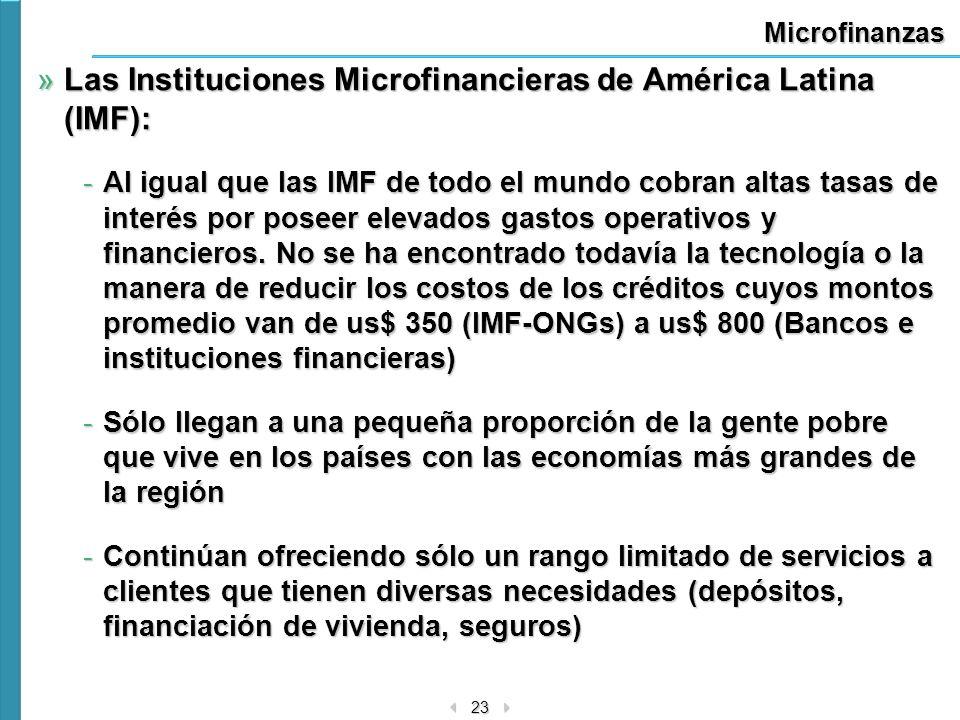 Las Instituciones Microfinancieras de América Latina (IMF):