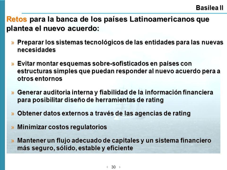 Basilea II Retos para la banca de los países Latinoamericanos que plantea el nuevo acuerdo: