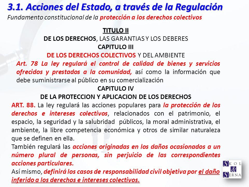 DE LA PROTECCION Y APLICACION DE LOS DERECHOS