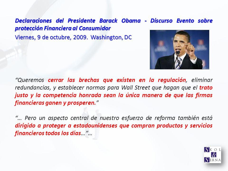 Declaraciones del Presidente Barack Obama - Discurso Evento sobre protección Financiera al Consumidor