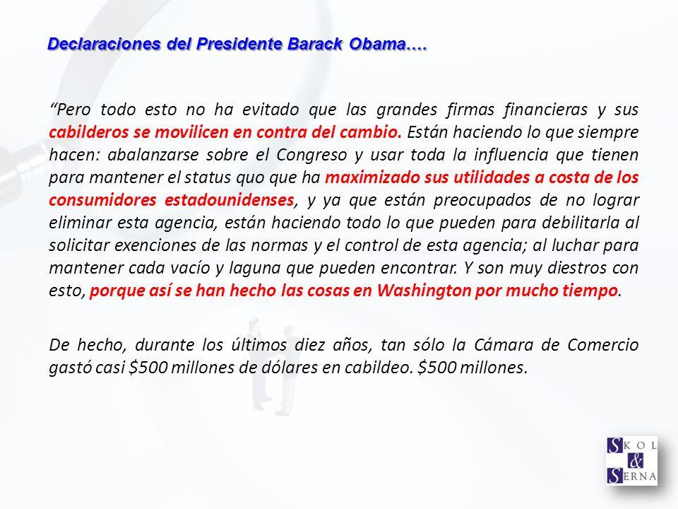 Declaraciones del Presidente Barack Obama….