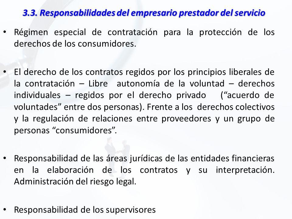 3.3. Responsabilidades del empresario prestador del servicio