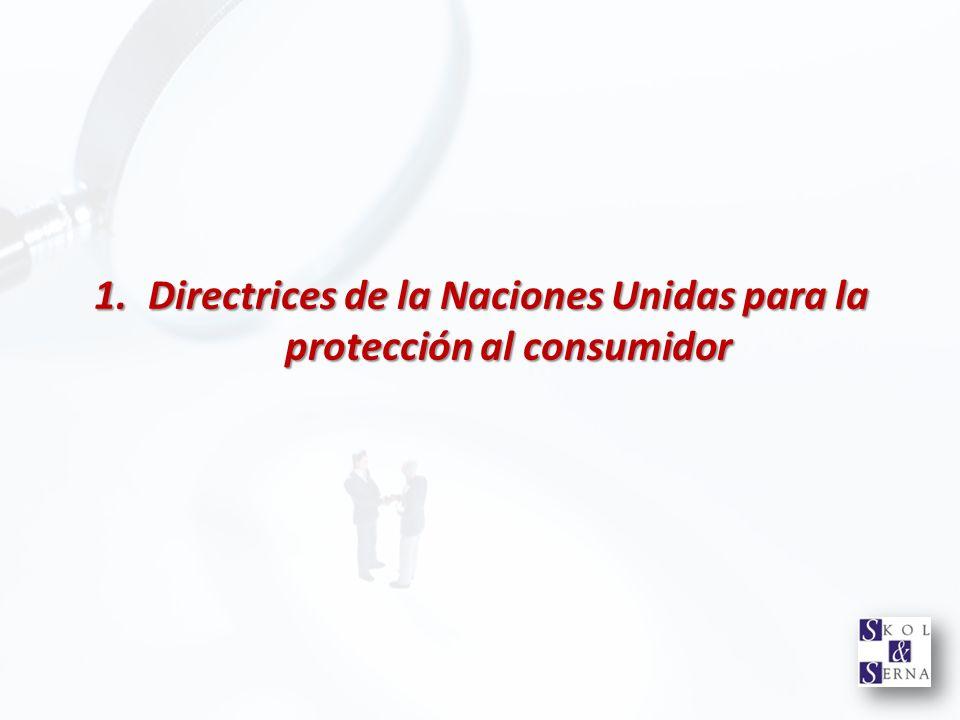 Directrices de la Naciones Unidas para la protección al consumidor