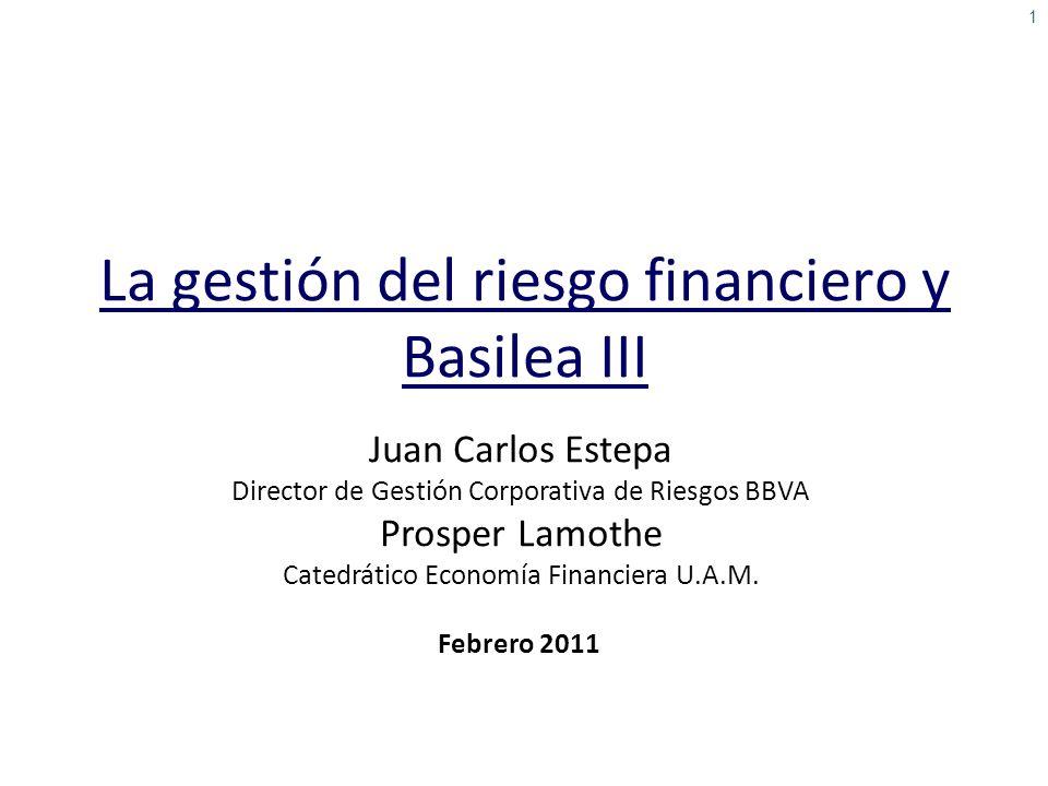 La gestión del riesgo financiero y Basilea III