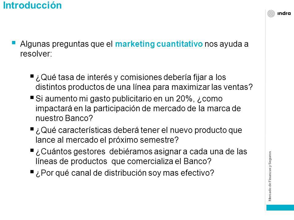 IntroducciónAlgunas preguntas que el marketing cuantitativo nos ayuda a resolver:
