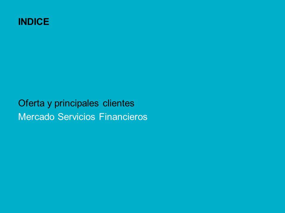 INDICE Oferta y principales clientes Mercado Servicios Financieros