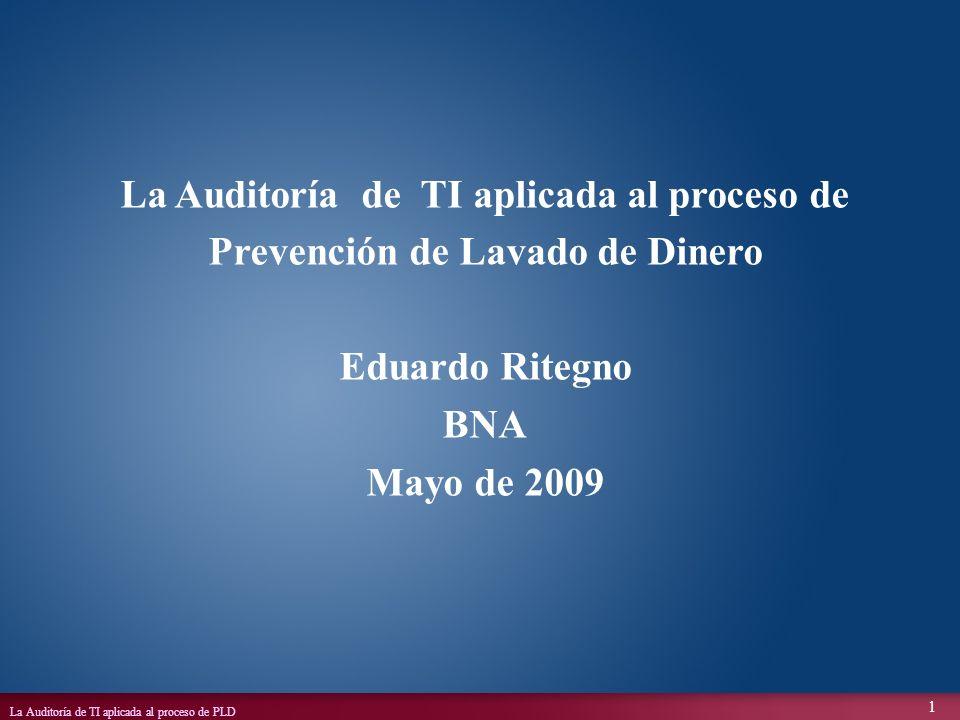 La Auditoría de TI aplicada al proceso de