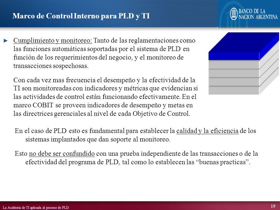 Marco de Control Interno para PLD y TI