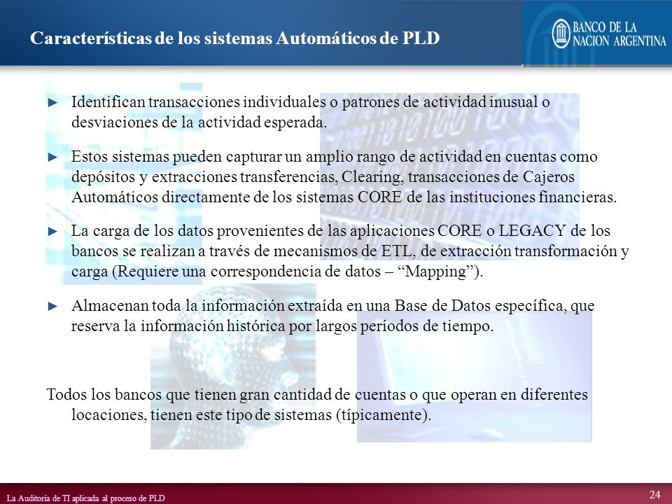 Características de los sistemas Automáticos de PLD