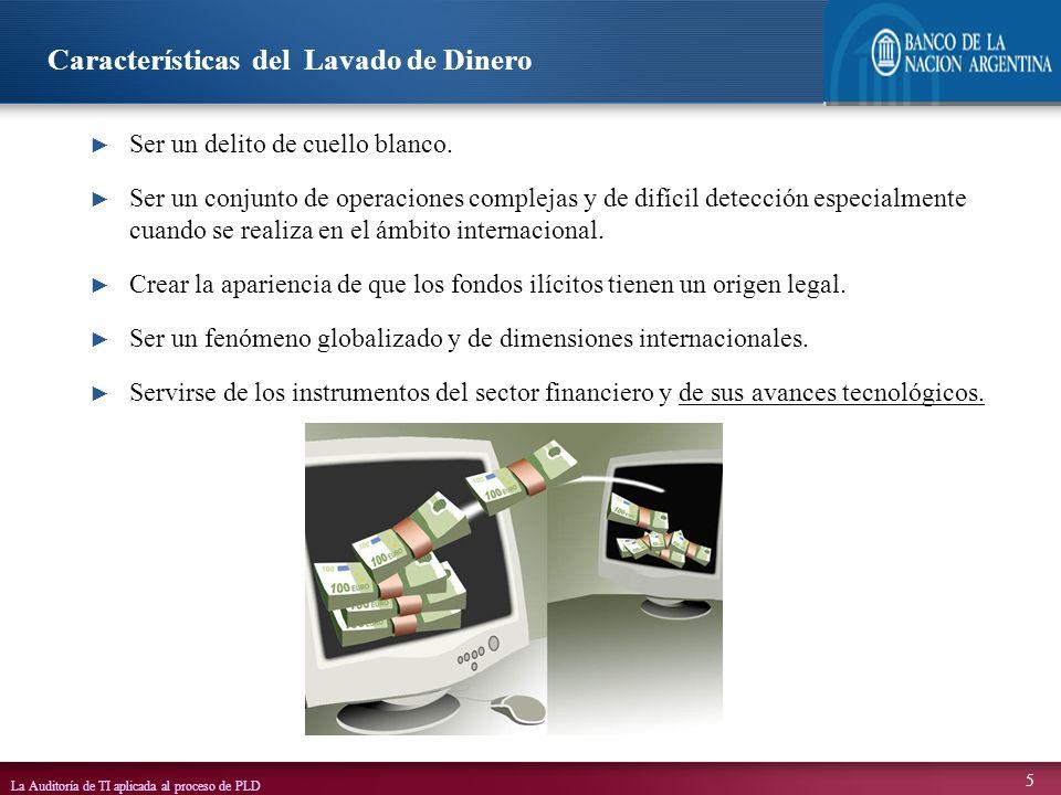 Características del Lavado de Dinero