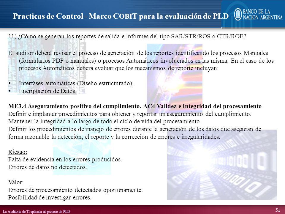 Practicas de Control - Marco COBIT para la evaluación de PLD
