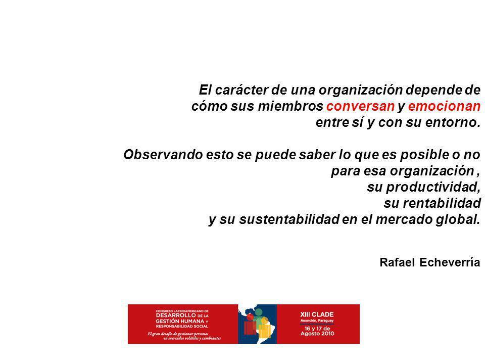 El carácter de una organización depende de