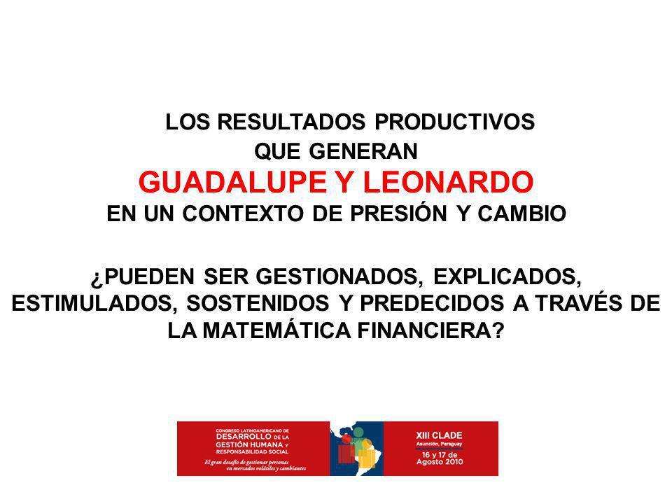 LOS RESULTADOS PRODUCTIVOS EN UN CONTEXTO DE PRESIÓN Y CAMBIO
