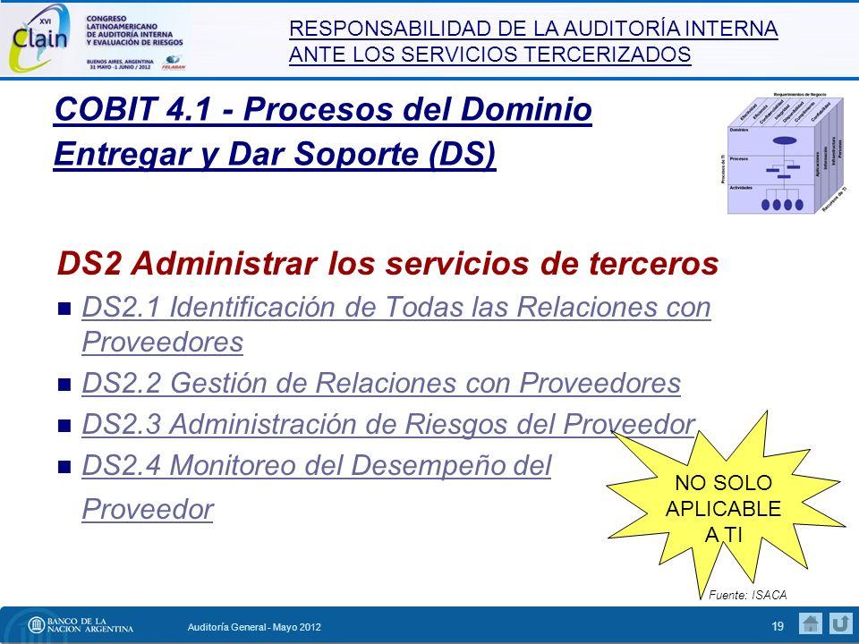 COBIT 4.1 - Procesos del Dominio Entregar y Dar Soporte (DS)