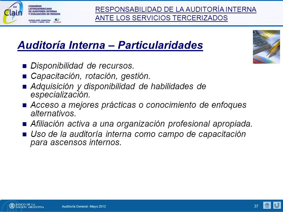 Auditoría Interna – Particularidades
