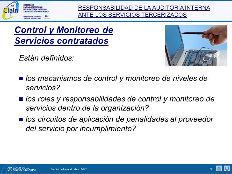 Control y Monitoreo de Servicios contratados