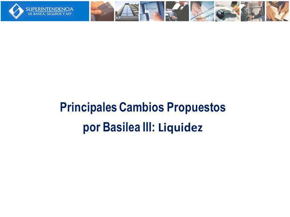 Principales Cambios Propuestos por Basilea III: Liquidez