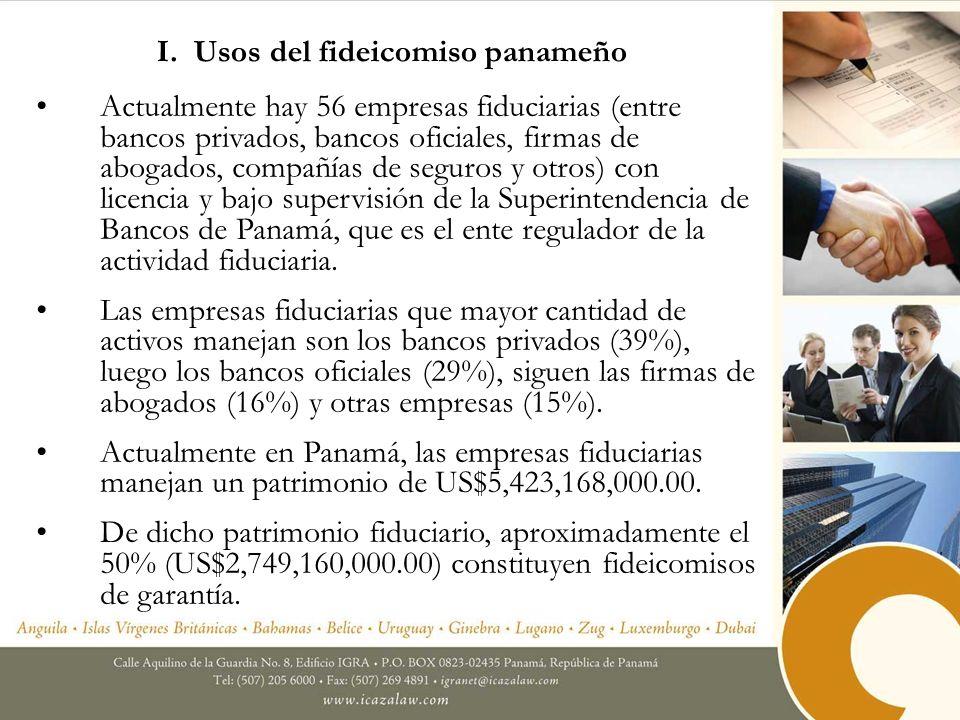 I. Usos del fideicomiso panameño