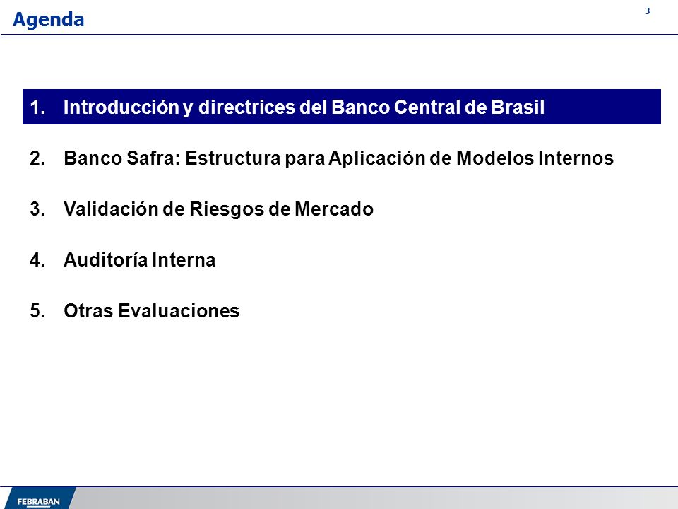 Introducción y directrices del Banco Central de Brasil