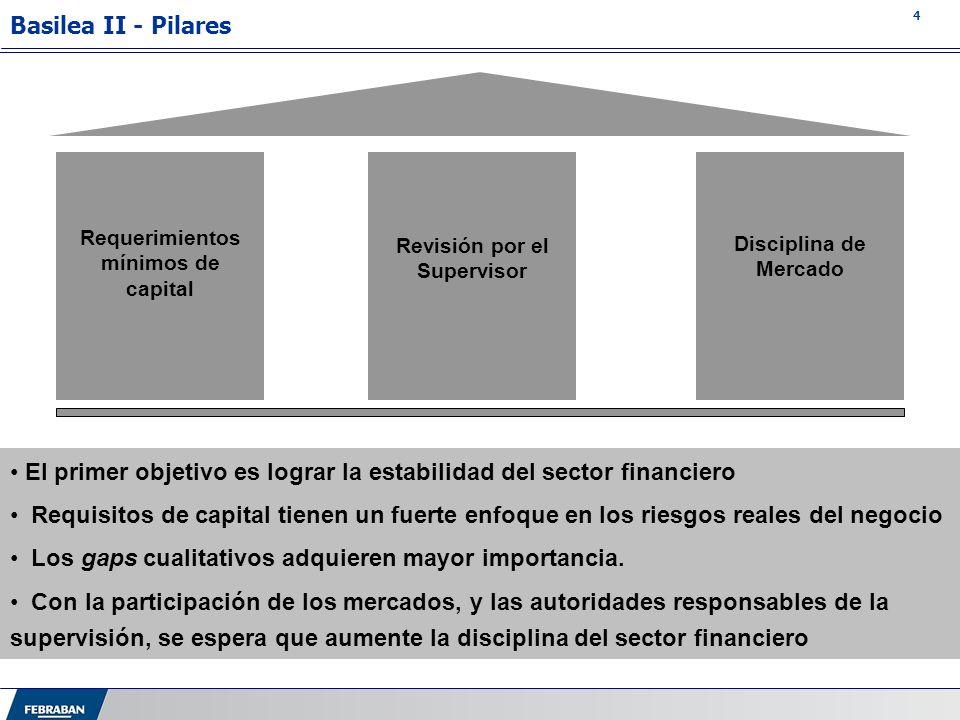 Requerimientos mínimos de capital Revisión por el Supervisor