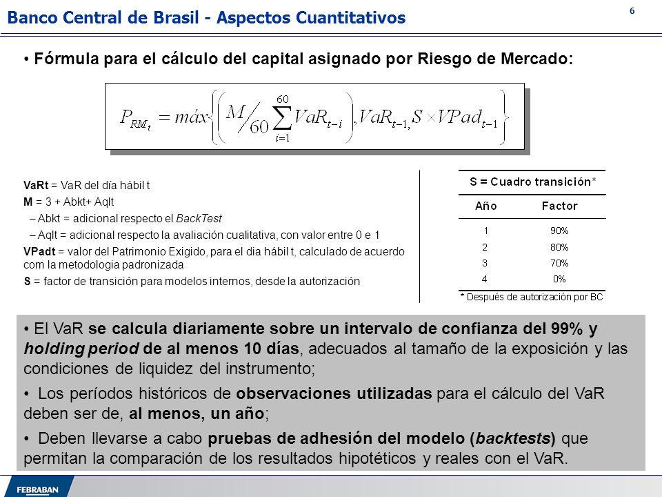 Banco Central de Brasil - Aspectos Cuantitativos