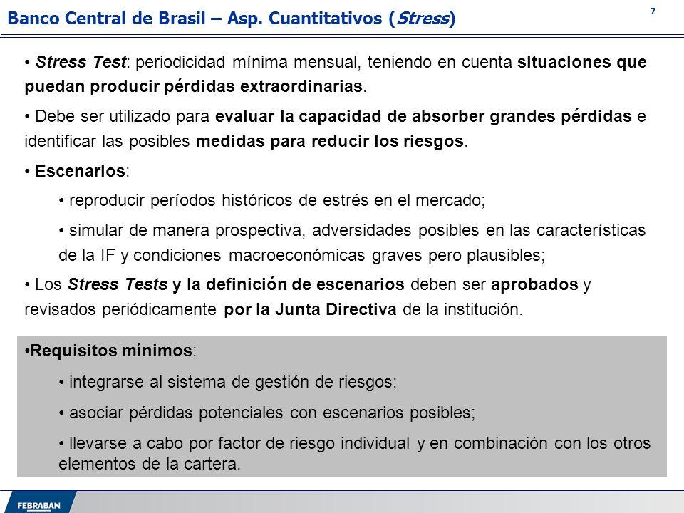 Banco Central de Brasil – Asp. Cuantitativos (Stress)
