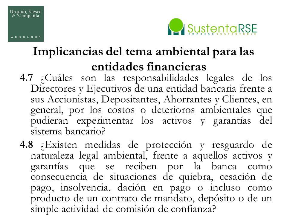 Implicancias del tema ambiental para las entidades financieras