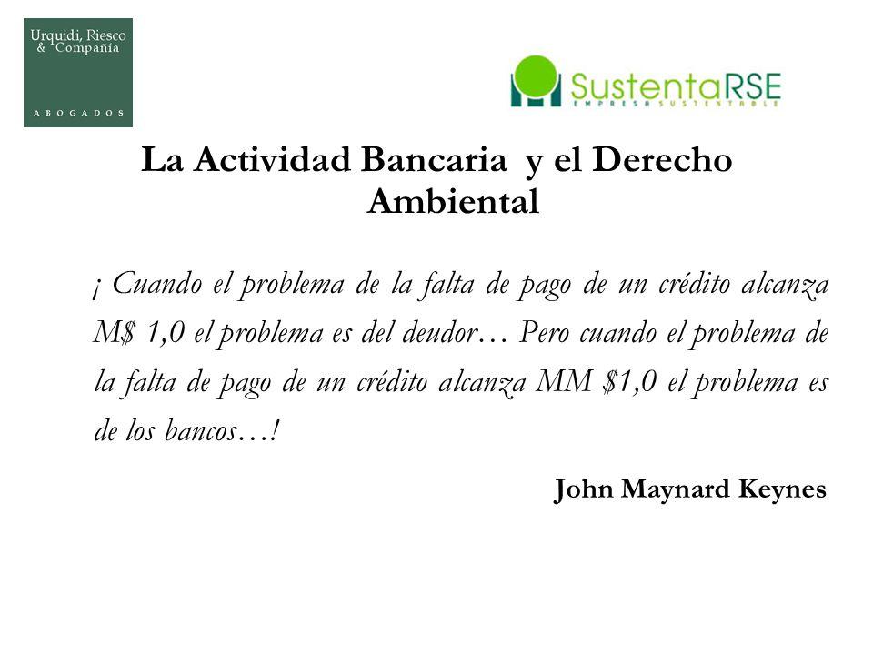 La Actividad Bancaria y el Derecho Ambiental