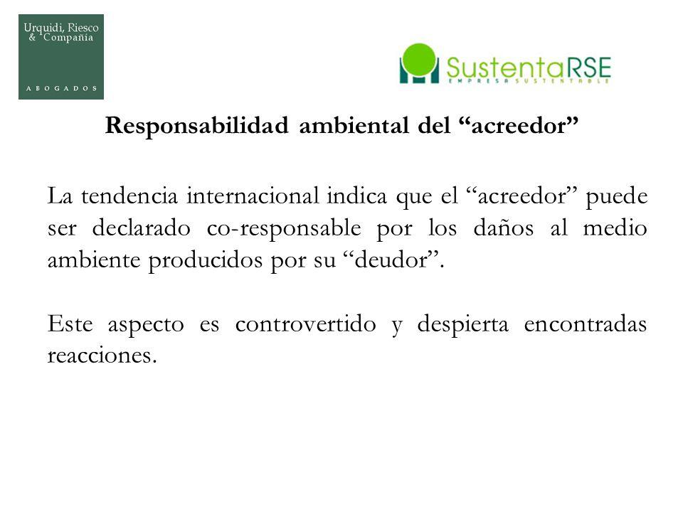 Responsabilidad ambiental del acreedor