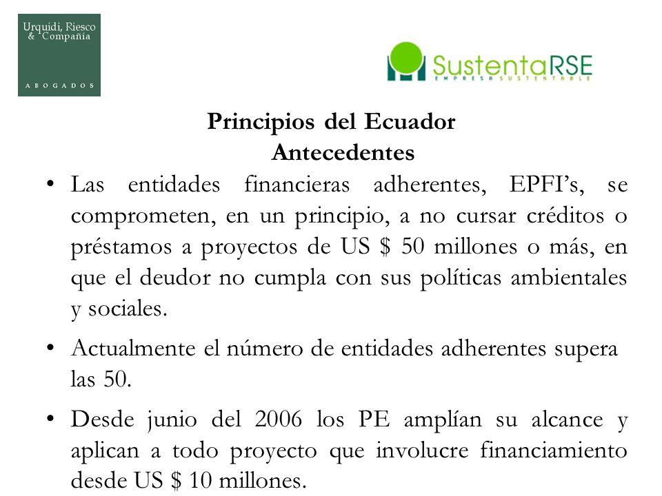 Principios del Ecuador Antecedentes
