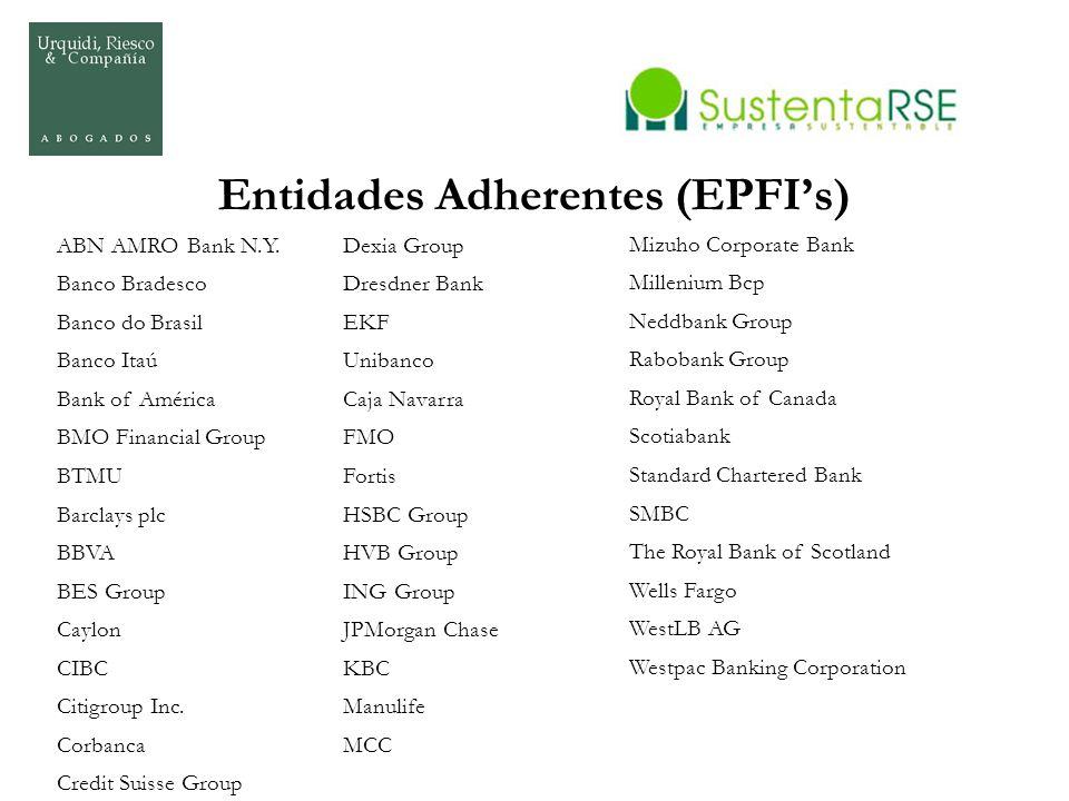 Entidades Adherentes (EPFI's)