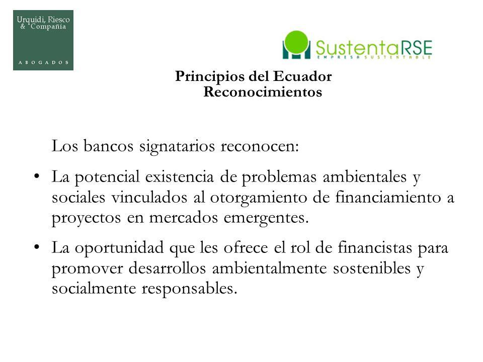 Principios del Ecuador Reconocimientos