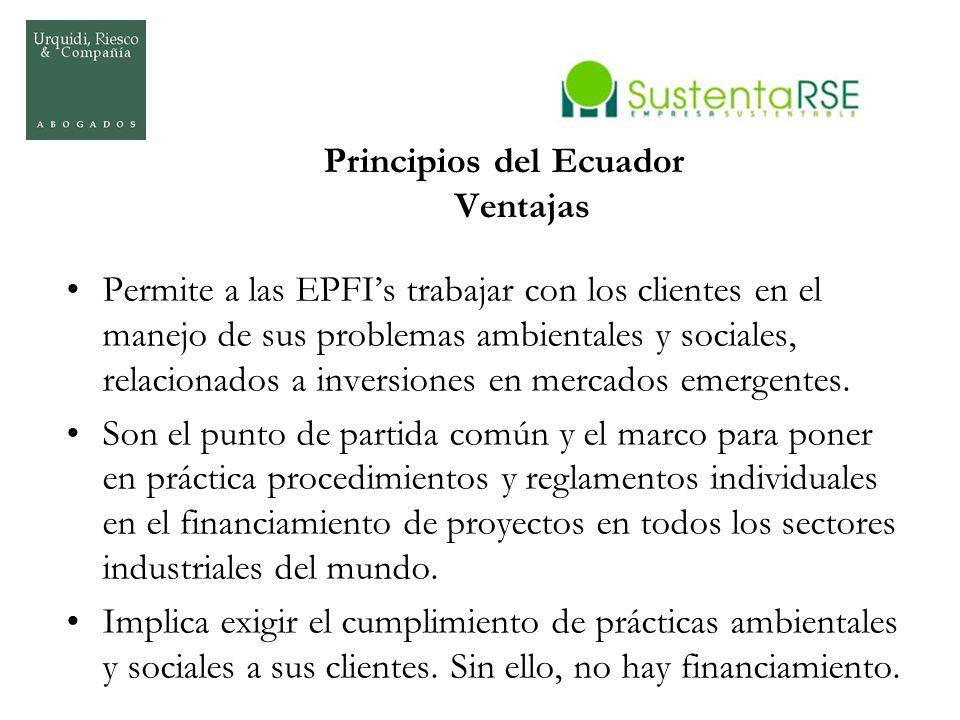 Principios del Ecuador Ventajas