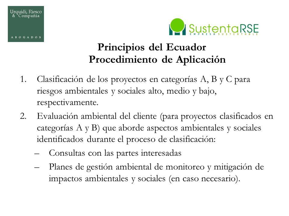 Principios del Ecuador Procedimiento de Aplicación