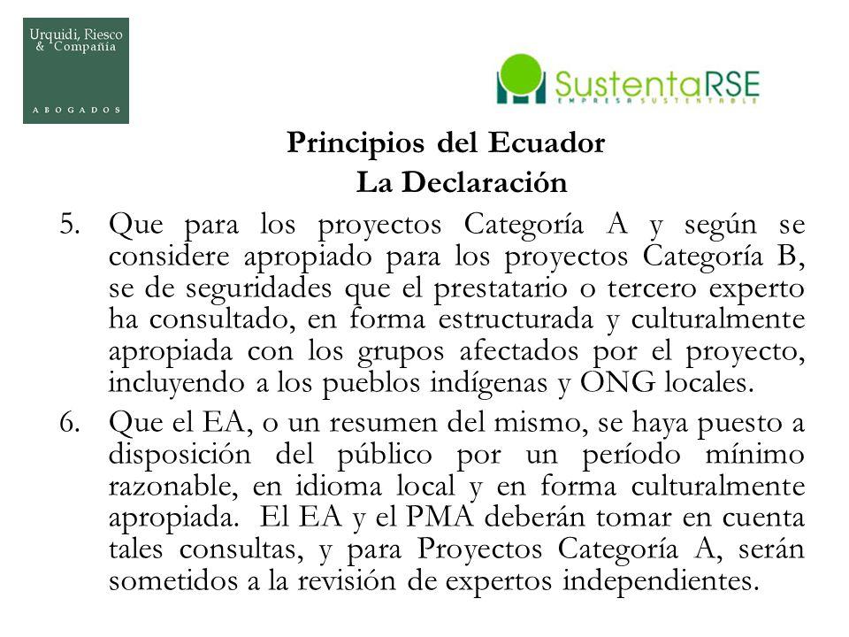 Principios del Ecuador La Declaración